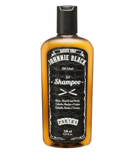 Champú Sin Sal Pelo, Barba y Cuerpo - 3x1 JOHNNIE BLACK 240ml