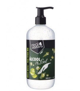 Gel Antiséptico - Alcohol Gel Plus Real Natura 500ml