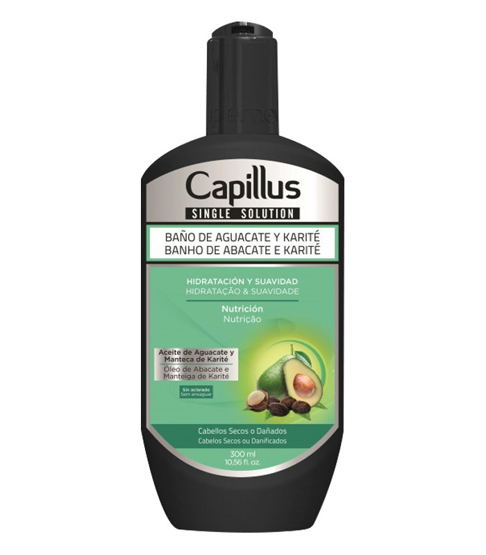 Baño de Aguacate y Karité Pelo Seco o Dañado - SINGLE SOLUTION CAPILLUS 300ml